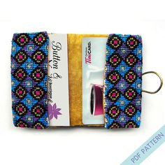Cross Stitch Card Holder Peacock Color Cross Stitch Pattern by PeacockandFig