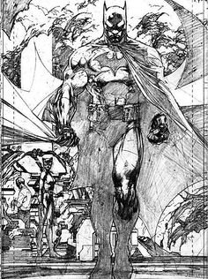Jim Lee illustration from Batman: Hush Jim Lee Batman, Im Batman, Batman Art, Batman Comics, Batman Superhero, Superhero Poster, Comic Book Artists, Comic Book Characters, Comic Artist