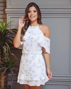 Look fofo e fresquinho  - Conjunto estampa exclusiva com blusa off-shouder () & saia de babados. #linhafesta #verao #print #fimdeano #newin