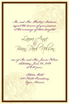Formal Invitation Templates 31 Best Wedding Invites Images On Pinterest  Invites Dream Wedding .