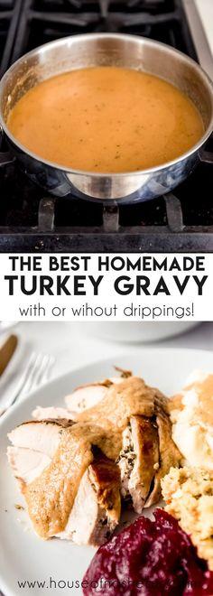 Homemade Turkey Gravy Recipe - House of Nash Eats