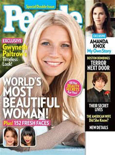 """Gwyneth Paltrow is """"World's Most Beautiful Woman 2013"""" by People. She stars as Pepper Potts, Tony Stark's love interest and assistant-turned-business partner in the """"Iron Man"""" trilogy."""