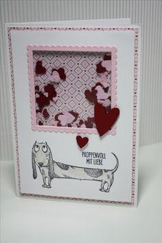 Schüttelkarte /shaker card mit Hund von Katzelkraft