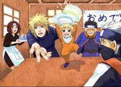 Minito Naruto's Parents   Naruto, Rin, Minato, Obito et Kakashi - Famille Uzumaki-Namikaze - fan ...