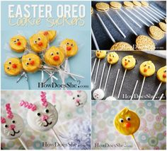 Diy Projects: Easter Oreo Suckers