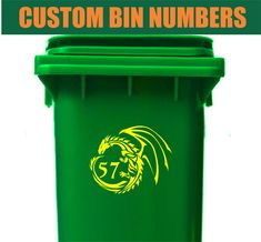 FROG Wheelie Bin Sticker With House Numbers *Size//Colour Options*