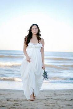 Bohemia Spaghetti Strap All Over Lace Wedding Dress with Pretty Flowers
