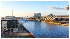 Golden October afternoon in Glasgow