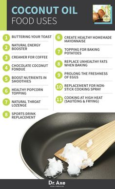 Healthy foods: Coconut Oil - How to cook with coconut oil from Dr. Axe