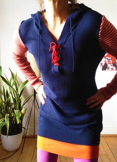 38 long pullover blau ringel pirat // upcycling  http://de.dawanda.com/product/53733395-38-long-pullover-blau-ringel-pirat-upcycling