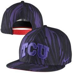 new style 3e917 e61b1 Nike TCU Horned Frogs Rivalry True Snapback Hat - Black Purple. Snapback  Hats ...