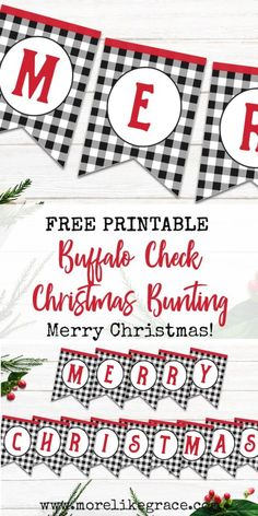 Free Printable Plaid Christmas Bunting & More Like Grace Free Printable Plaid Christmas Bunting & More Like Grace The post Free Printable Plaid Christmas Bunting Christmas Banner Printable, Christmas Bunting, Printable Banner, Plaid Christmas, Free Printables, Merry Christmas, Christmas Crafts, Christmas Ideas, Printable Quotes