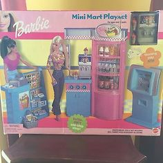 BARBIE MINI MART STORE FURNITURE PLAYSET NEW SEALED 2002 MATTEL GREAT CONDITION