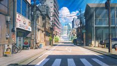 Now Japanese Tourism Companies Offer Official Anime Pilgrimage Tours For Real Otaku! Episode Backgrounds, Anime Backgrounds Wallpapers, Anime Scenery Wallpaper, City Wallpaper, Animes Wallpapers, 1080p Wallpaper, Vintage Desktop Wallpapers, Episode Interactive Backgrounds, Cloud Wallpaper
