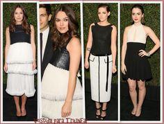 Keira Knightley, Kristen Stewart y Lily Collins en la Chanel & Charles Finch Pre-Oscars Dinner
