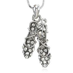Clear Ballet Shoes Dancing Ballerina Dancer Pendant Necklace Charm Designer Girls Teens Fashion Jewelry >>> Read more  at the image link.