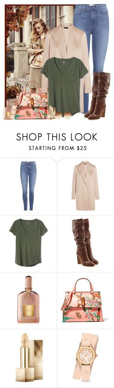 """Still waiting for Fall weather"" by rachel ❤ liked on Polyvore featuring Ann Taylor, Paige Denim, The Row, Gap, See by Chloé, Tom Ford, Gucci, Burberry, Michele and Linda Farrow"