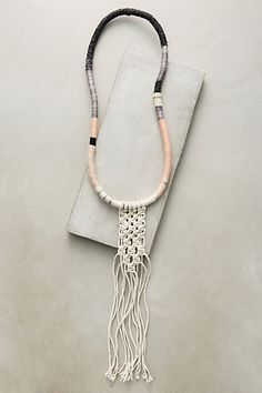 Macrame Pendant Necklace #anthropologie