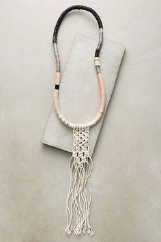Macrame Pendant Necklace #anthropologie