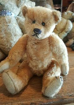"Antique Ideal ????? 12"" Mohair Teddy Bear Excelsior Stuffed"