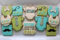 Little Man Baby Shower Cookies | Cookie Connection