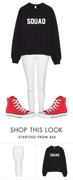 """S Q U A D "" by sydthekyd01 on Polyvore featuring Topshop and Converse"