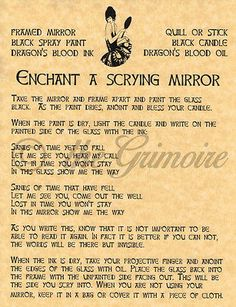 Enchant a Scrying Mirror spell page for Book of Shadows, BOS Pages, Witchcraft in Collectibles, Religion & Spirituality, Wicca & Paganism Magick Spells, Wicca Witchcraft, Moon Spells, Real Spells, Witch Spell, Pagan Witch, Book Of Shadows, Occult, Spelling