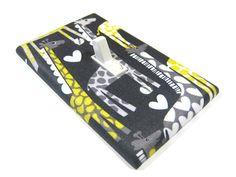 Light Switch Cover Black and Gray Giraffe Modern by ModernSwitch, $8.00