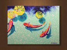 Koi peces suerte pintura la pintura pintura al óleo por KolesovArt