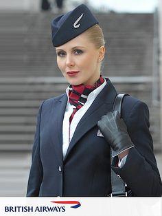 Do I surrender, ma'am? Air France, British Airways Cabin Crew, Long Flight Tips, Jersey Uniform, Airline Uniforms, Intelligent Women, Girls Uniforms, Mode Vintage, Flight Attendant