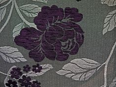 Modelli Fabrics - Vicenza 1861 Aubergine, Charcoal  Very smart floral,stripe and plain chenille collection in a stunning mix of vibrant and