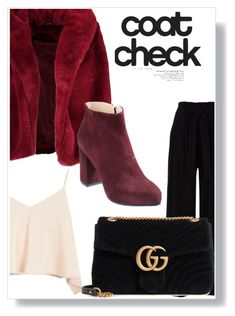 """yepyep"" by nalvatore on Polyvore featuring Boohoo, Topshop, Gucci and statementcoats"