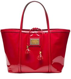 Dolce & Gabbana Red Patent Tote