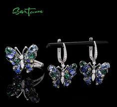 Cheap Jewelry, High Jewelry, Silver Jewellery, Jewelry Sets, Pendant Earrings, Ring Earrings, Silver Earrings, Diamond Earrings, Butterfly Pendant
