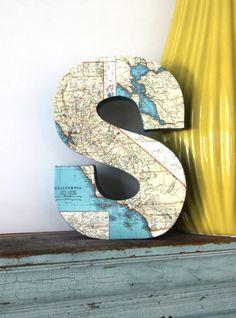 cute decoration idea - with map of honeymoon spot