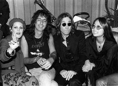 Alice Cooper, John Lennon and May Pang NYC, 1974