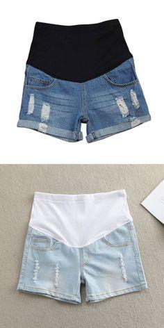 e3fd69844f923 Plus Size Maternity Clothing Summer Maternity Pants Fashion Maternity  Shorts Belly Pants Basic Maternity Jeans Pregnant