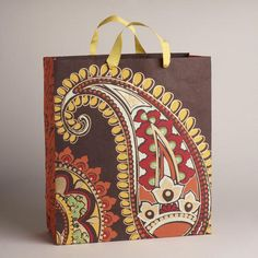 One of my favorite discoveries at WorldMarket.com: Extra Large Brown Rialto Handmade Gift Bag
