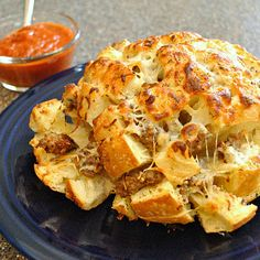 Pizza Crack Bread....I think I will use dry italian dressing mix with melted butter