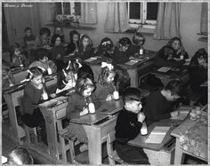 Once a day school children were served their milk, care of the education authorities