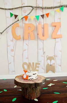 Fox Cake Topper, Centerpiece Stick, Woodland Party Decorations, 1st Birthday, Cake Smash What Does The Fox Say Fox Party fox birthday