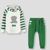 Children Striped Clothes Sets Kids boys girls Casual Twinset 3-8