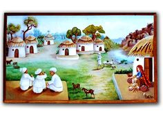Exclusive Mud Work , Mud Painting Frames from Kutch ( also known as Kachchh) , Gujarat. Maa Wallpaper, Mud Paint, Village Photos, Indian Village, School Decorations, Indian Paintings, Life Images, Painting Frames, Folk Art