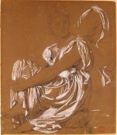 drapery Jean Auguste Dominique Ingres