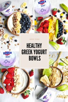 Healthy New Year Yogurt Bowls with FAGE - Plum Street Collective Healthy Yogurt, Healthy Cereal, Healthy Food, Yogurt Recipes, Gourmet Recipes, Healthy Recipes, Yogurt Bowl, Greek Yogurt, Creamed Asparagus