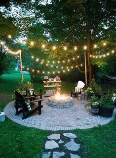66 ideas garden seating ideas backyard fire pits awesome for 2019 Backyard Layout, Backyard Pool Landscaping, Backyard Seating, Backyard Patio Designs, Fire Pit Backyard, Garden Seating, Diy Patio, Backyard Ideas, Patio Ideas