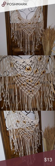 BoHo scarf, waist wrap Scarf and/or waist wrap, BoHo style accentuated with wooden beads and has ties to adjust length and fit. unknown  Accessories Scarves & Wraps