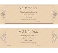 GrayStoneGiftVoucherTemplate  Beautiful Printable Gift