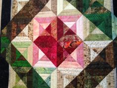 Batik Series  The Rose  Quilted Wall Hanging by MelderCreations, $195.00