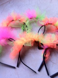 Neon Party, Disco Party, Blacklight Party, Paint Party, Party Time, Birthday Parties, 15th Birthday, Birthday Ideas, Headbands